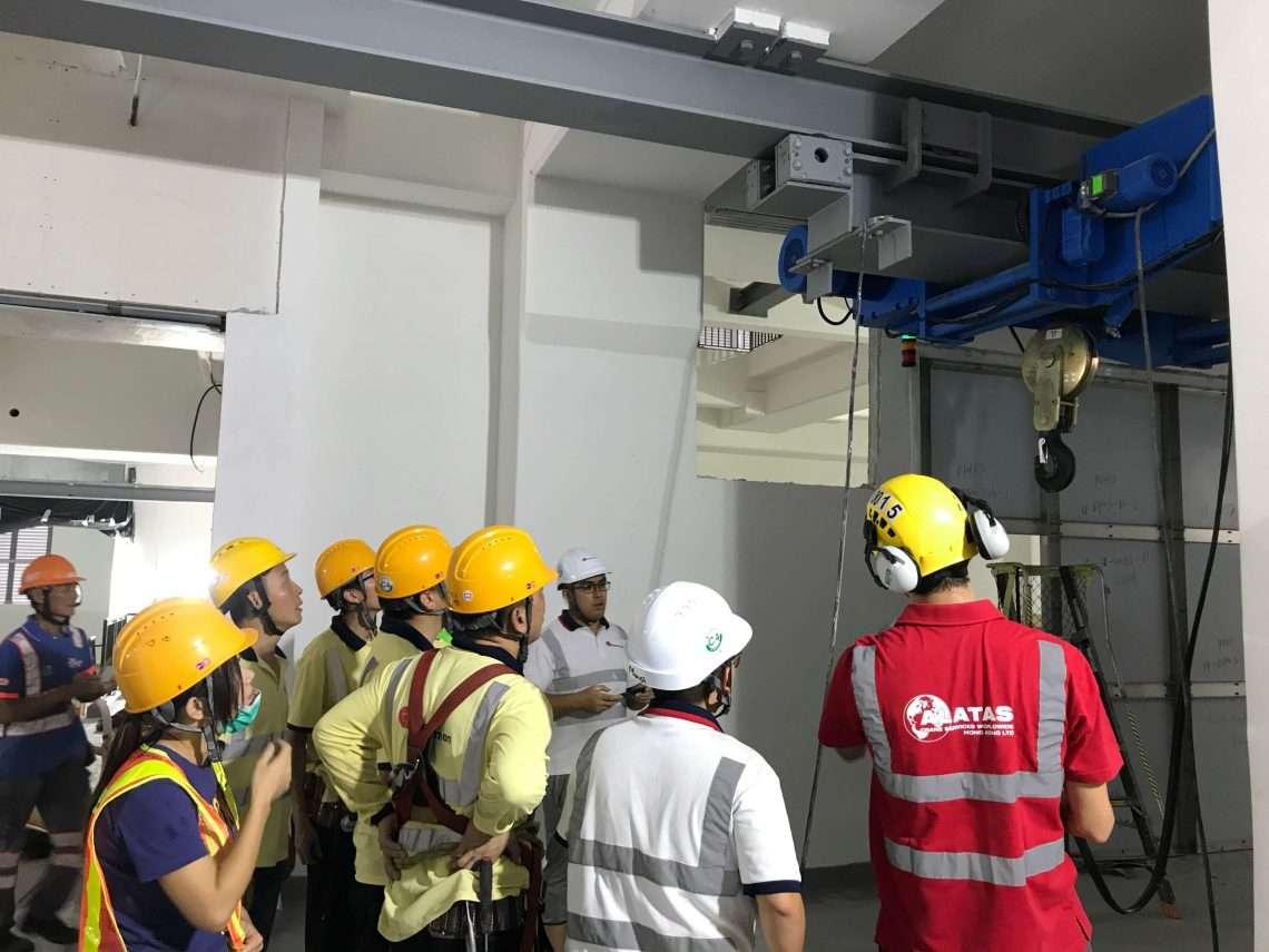 Monorail Hoisting system installation