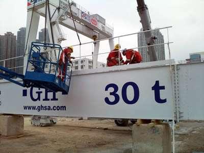 installation of a 30t gantry crane
