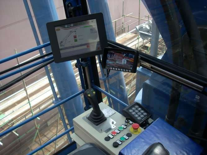 Italgru knuckleboom crane installation