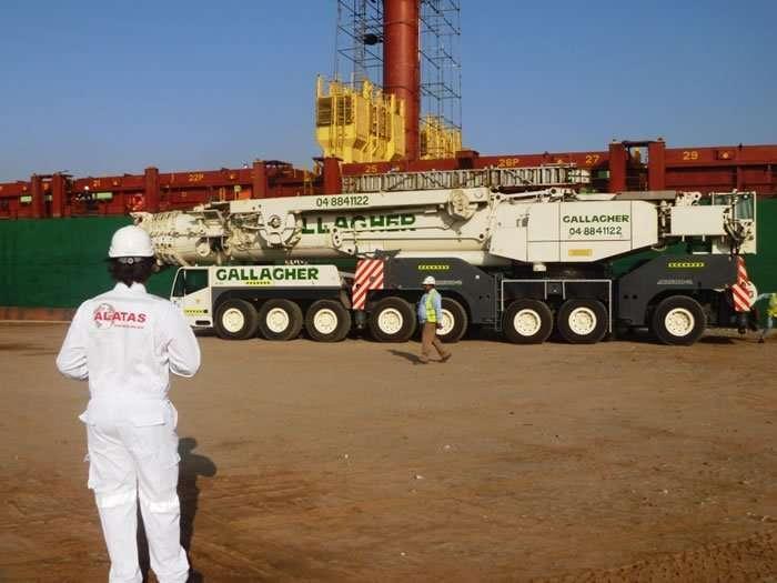 Tsuji deck crane boom repair