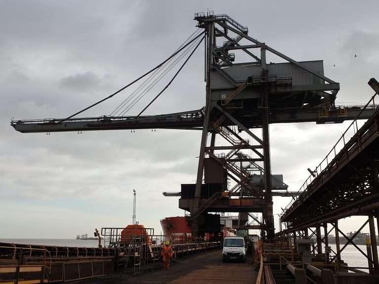 Port crane repairs