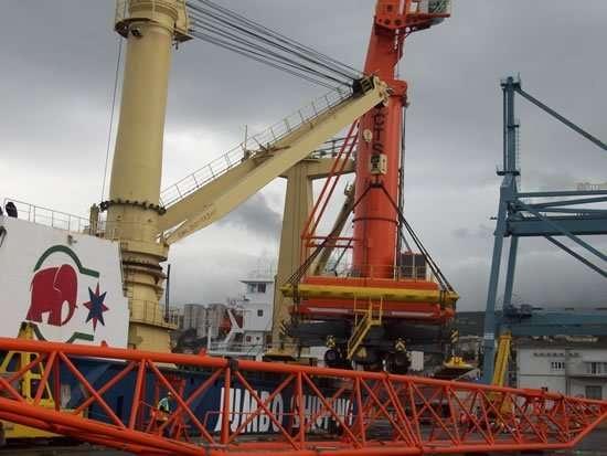 mobile harbour crane service in Croatia