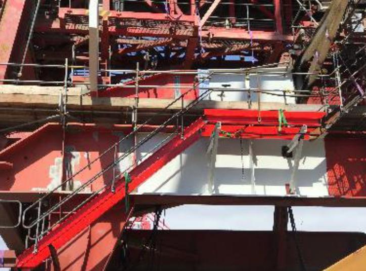 Walker Ship Unloader Fire Repairs