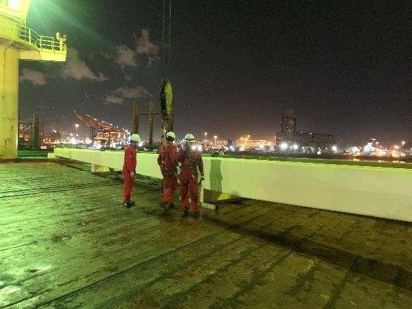 MHI jib steel repairs