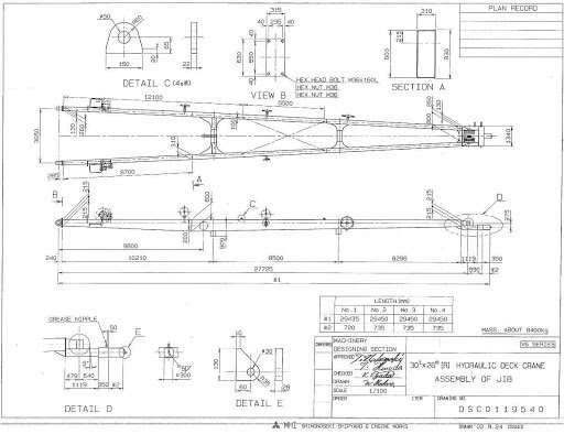 Mitsubishi crane boom service