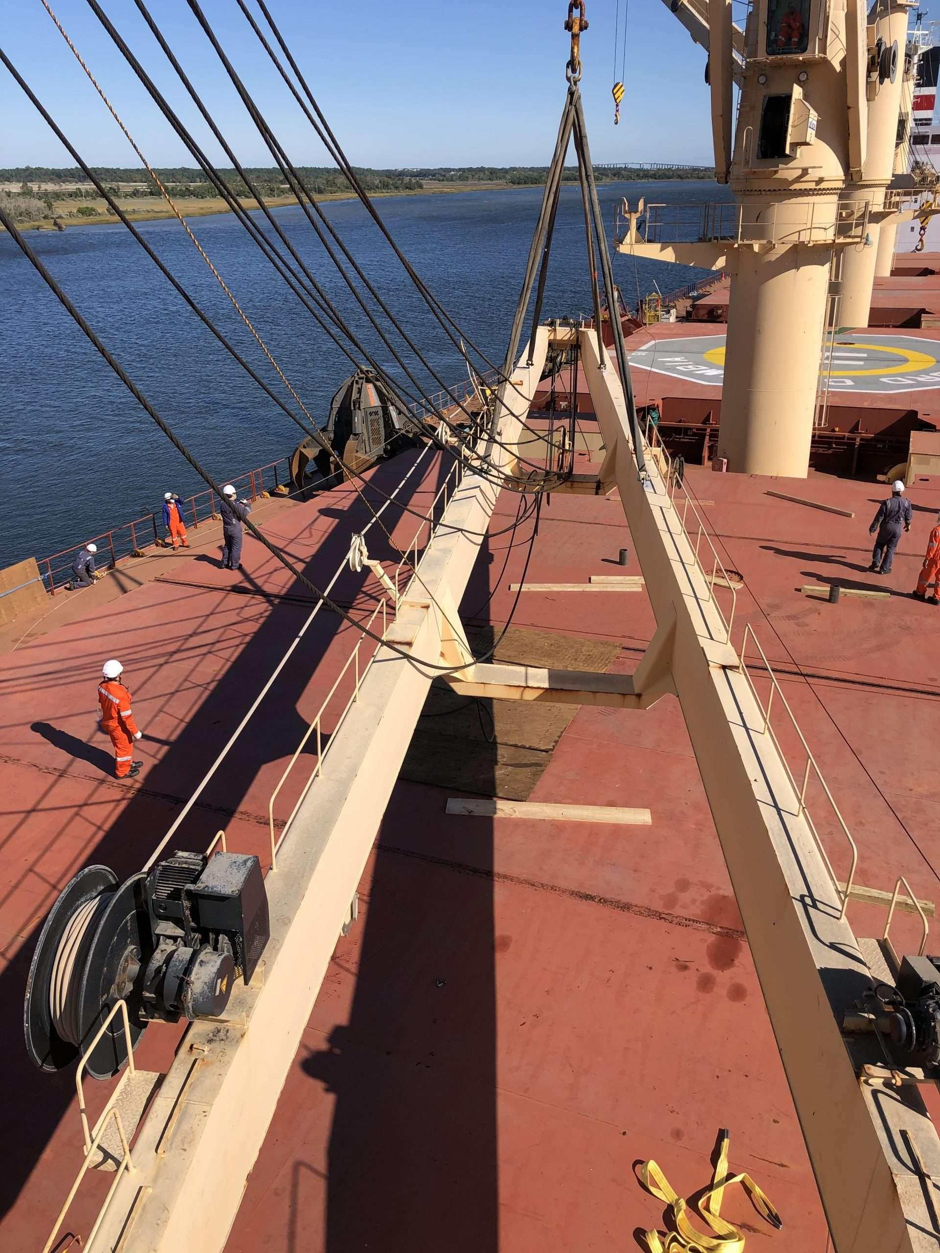 Deck Crane Boom Repairs in South Carolina
