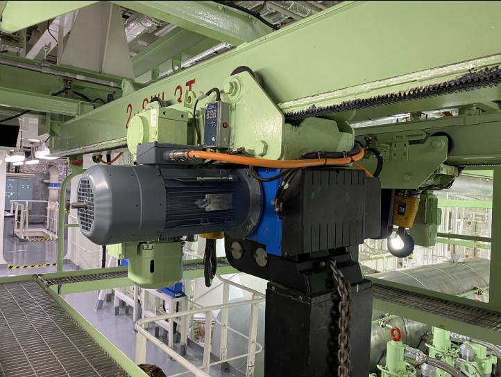 Ningbo Kairong engine room crane upgrade