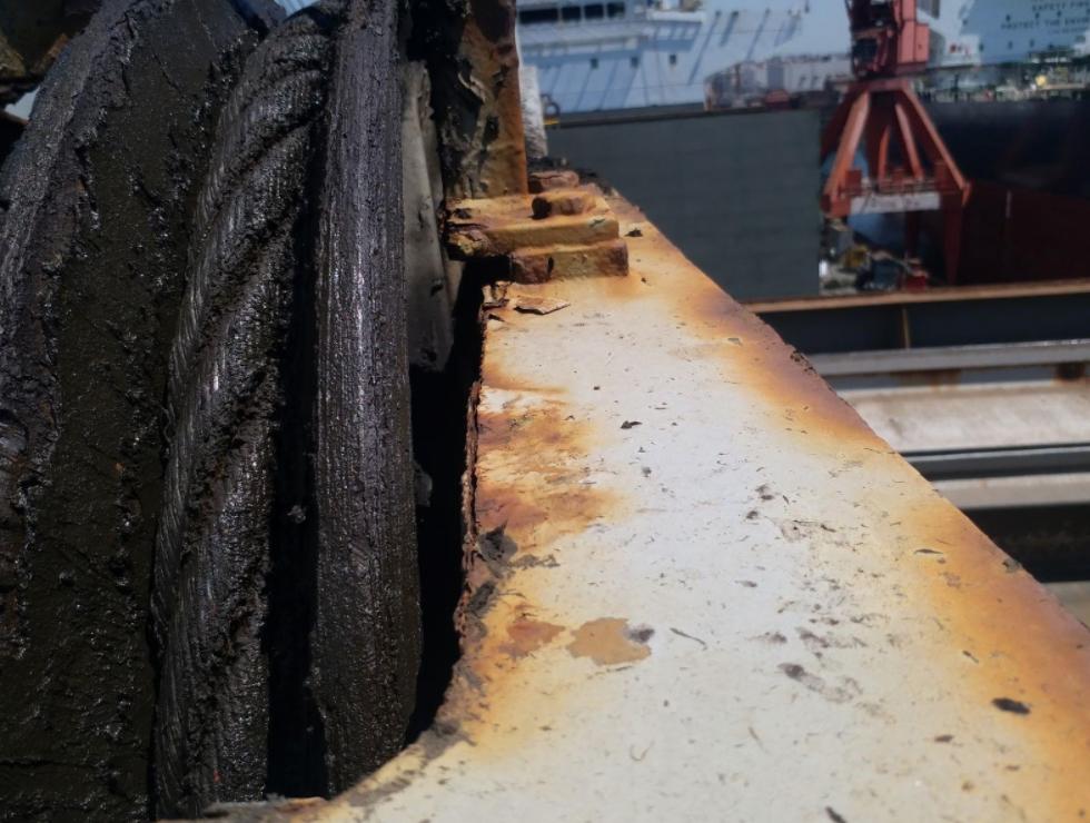 Cargo Crane Pre-docking Inspection Tuzla Shipyard