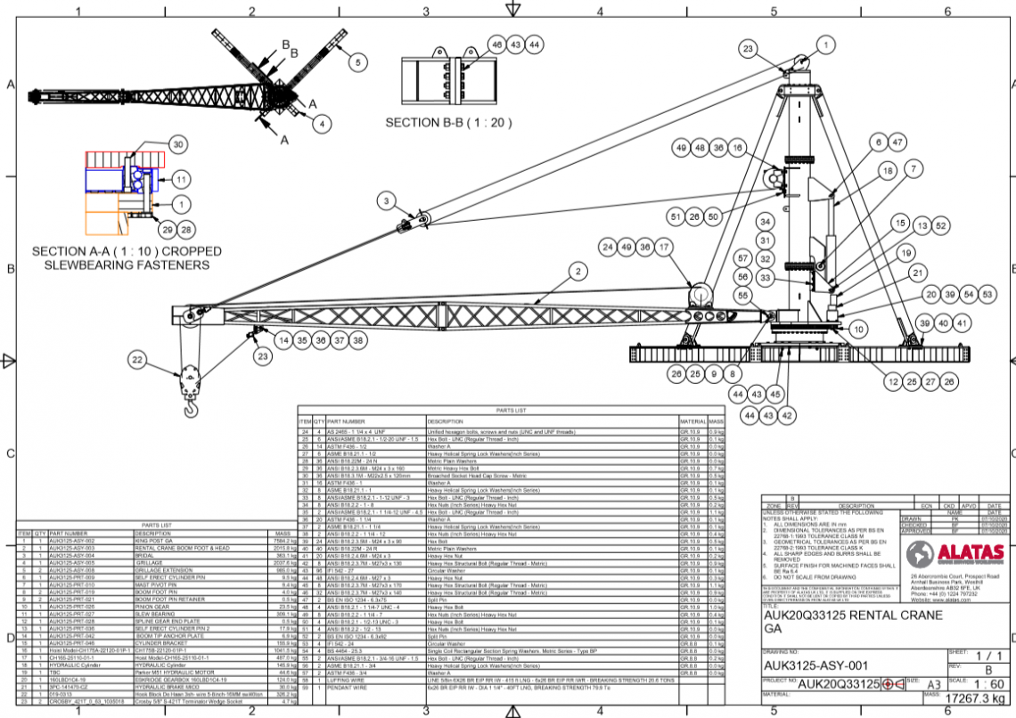 Alatas First Rental Crane Design