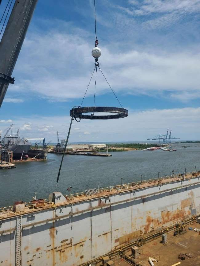 Portal Crane Slew Bearing Change Out in Mobile Alabama