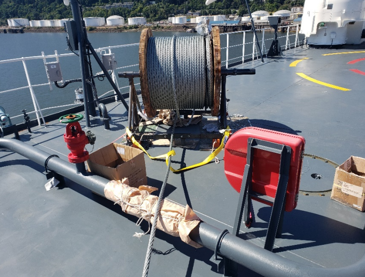 Stern Ramp Wire Rope Change Out