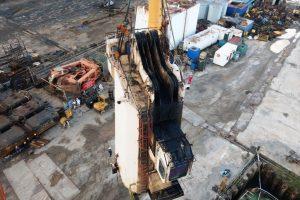 Tsuji crane slewing bearing replacement