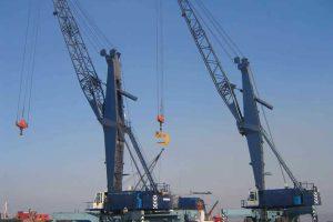 Liebherr harbour cranes complete