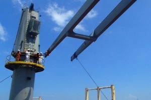 IHI Crane Boom Repair on top of Hatch Cover