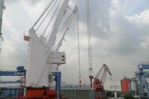 Tsuji Deck Crane Steel Repairs