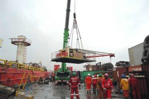Link Belt pedestal crane refurbishment