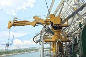 Melcal Knuckle Boom Crane, sold & commissioned by Alatas Singapore