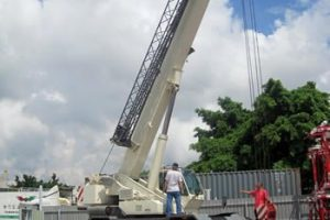 Installation and commissioning of retrofit LML system for Terex rough terrain crane