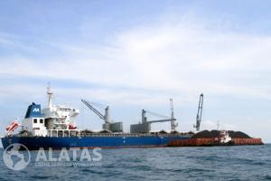 Vessel loading coal at Bearu Anchorage